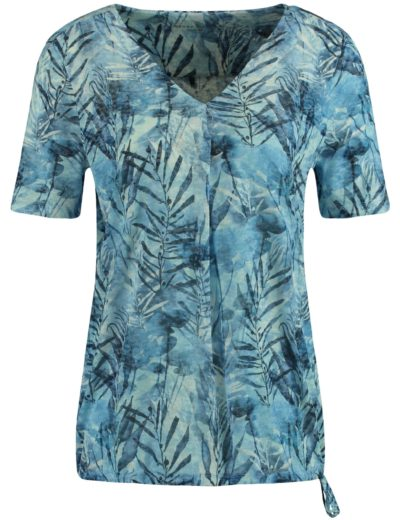 Tops & Shirts-Gerry Weber-470060-44034--Blauw